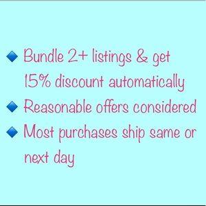 Bundle 2+ listings & get 15% discount